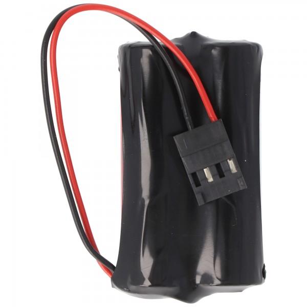 CMOS-Batterie passend für SAFT 2LS14500 3.6 Volt, 5,2Ah, GEB 10-W15, Ref. 2484, F087867