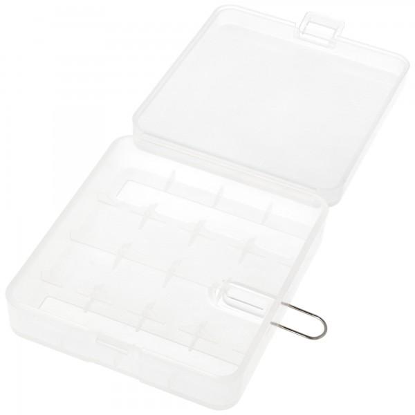 Aufbewahrungsbox für 4x 18650 Akkuzellen
