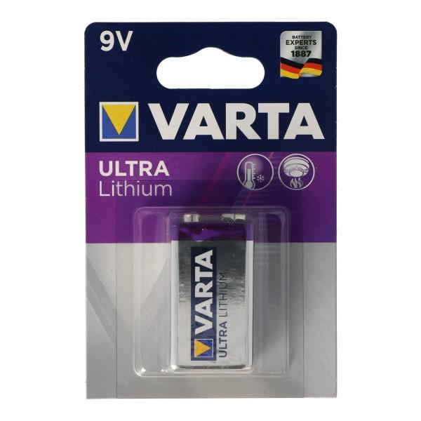 Varta (6122) Batterie Lithium 9-Volt Block - Professional Lithium