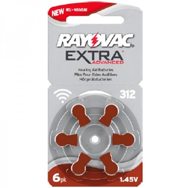 Rayovac Hörgerätebatterie H312MF Nr. 312 PR41 Extra Advanced, 180mAh 6 Stück im Blister
