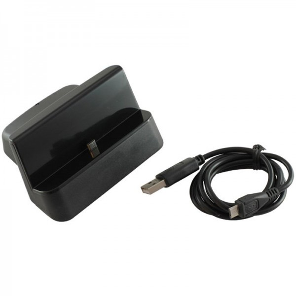 USB Dockingstation passend für Samsung Galaxy Note II N7100 schwarz