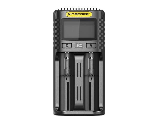 Nitecore UMS2 USB-Schnell-Ladegerät QC 2.0 kompatibel für Li-Ion Akkus