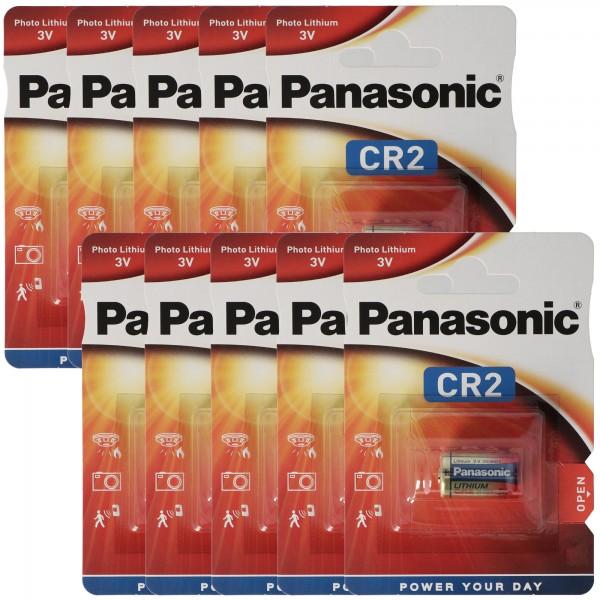 Panasonic CR2 Lithium Batterie CR2EP, CR-2 Batterie 10er Pack