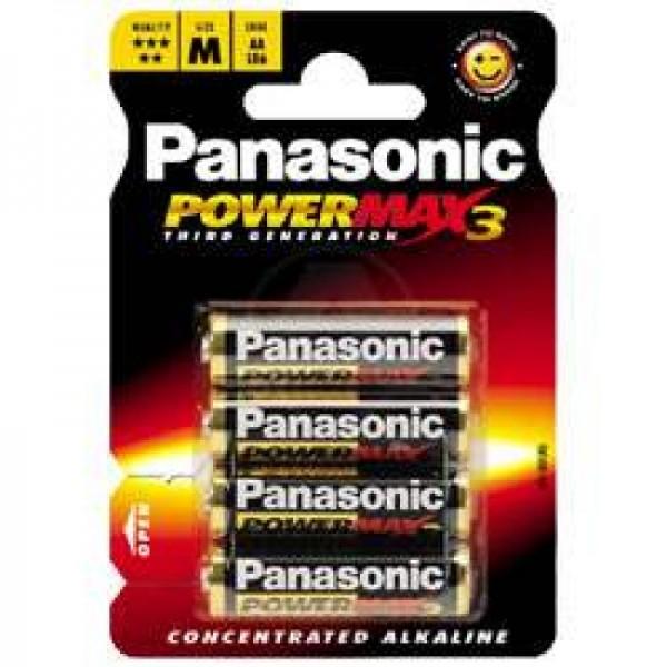 Panasonic PowerMax3 4er Spar-Pack Mignon/AA
