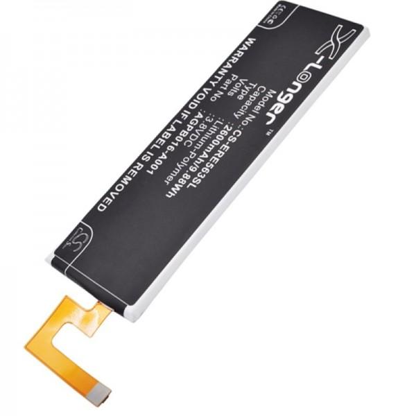 Akku passend für Sony Ericsson Xperia M5, AGPB016-A001 3,8 Volt 2600mAh