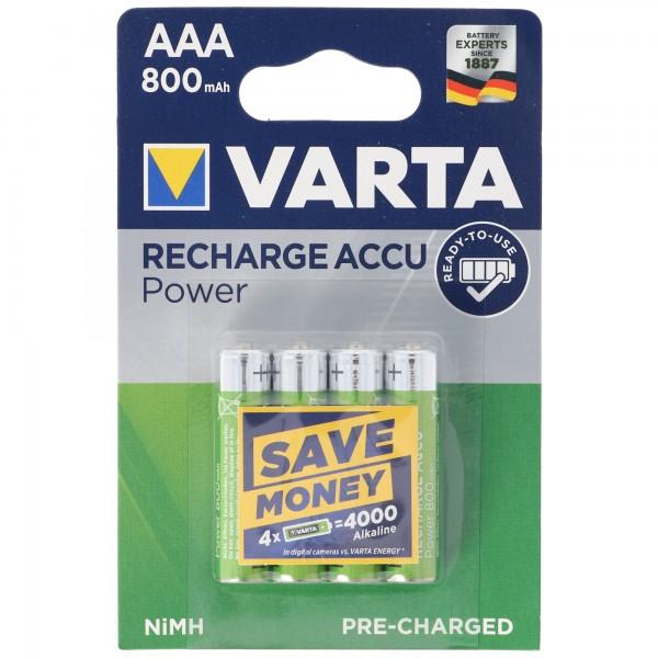 VARTA Ready2use Akku Micro/AAA 56703 4er Pack