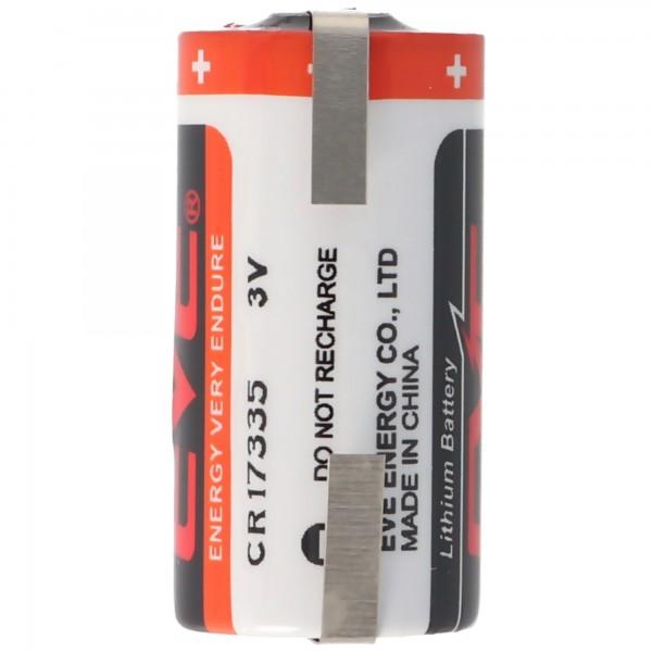 EVE CR17335 3V Lithium Batterie mit Lötfahnen oder Lötpaddel auswählbar