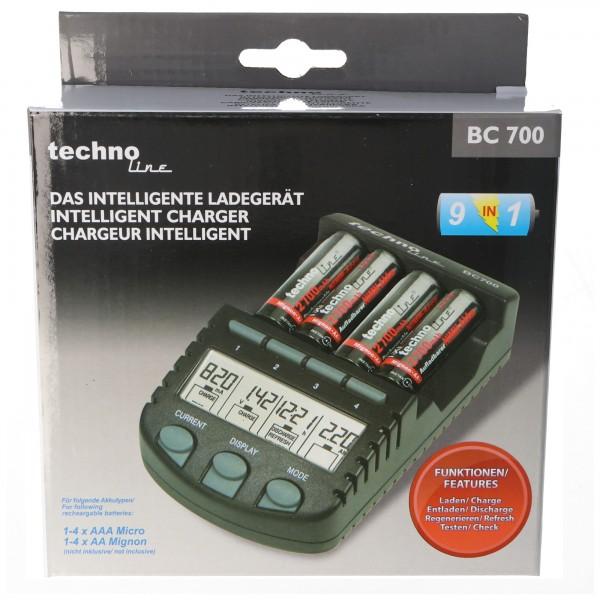 Schnell-Ladegerät BC 700 mit Entladefunktion und LCD-Display