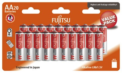 Fujitsu LR6 Alkaline Universal Power Mignon Batterie 20er Sparpack, LR06, Mignon, LR6 Batterien