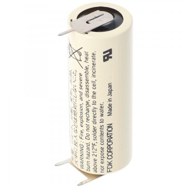 Sanyo Lithium Batterie CR17450SE Size A, 3er Print Lötfahnen