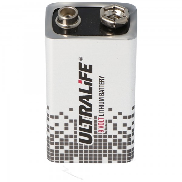 Ultralife Lithium Batterie 9 Volt, E-Block, U9VL, U9VL-J, U9VL-J-P