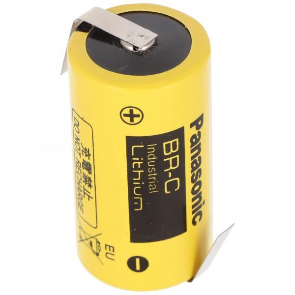 BR-C Panasonic Lithium Batterie Baby mit Lötfahnen in Z-Form, BR26500