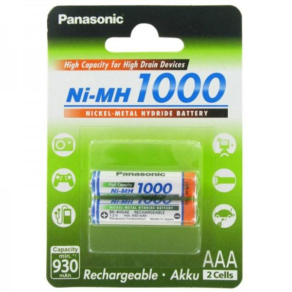 Panasonic Akku Batterien NEUESTE VERSION 4 eneloop Micro AAA Akkus in Box