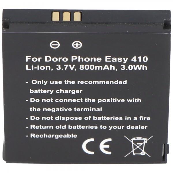 Doro PhoneEasy 410 Akku, Doro Phone Easy 610 Akku, SHELL01A Akku Care Clamshell