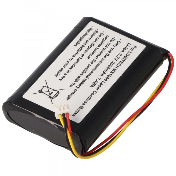 Akku passend für Logitech MX1000 Laser Cordless Mouse, L-LB2
