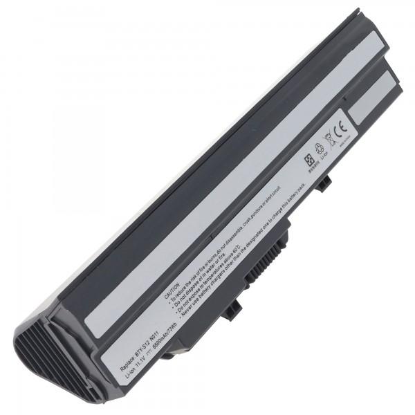 Akku passend für MEDION Akoya Mini E1210, E1212, 6600mAh schwarz, Akku BTY-S11, BTY-S12, BTY-S13