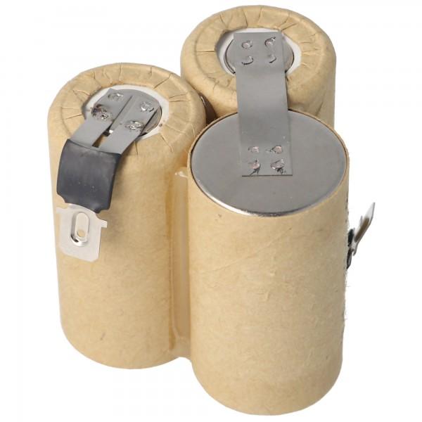 Akku NiMH für Staubsauger, Hand-Staubsauger 3,6 Volt, 4,8mm, 6,3mm
