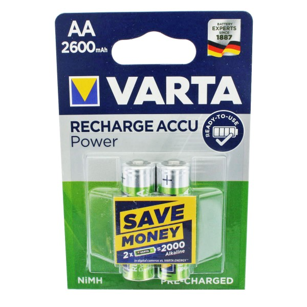 Varta Power Ready2Use Mignon NiMH Akku AA 2600mAh 2er Blister