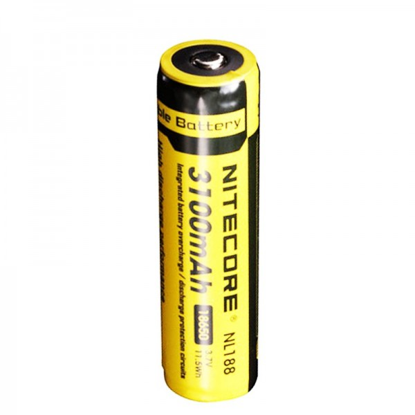NiteCore 18650 Li-ion Akku für LED Taschenlampen NL188 mit 3100mAh