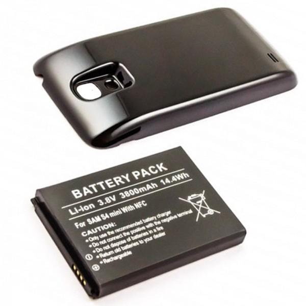 Samsung Galaxy S4 Mini Nachbau Akku Galaxy S4 Mini, Samsung GT-I9195 3800mAh mit Deckel schwarz