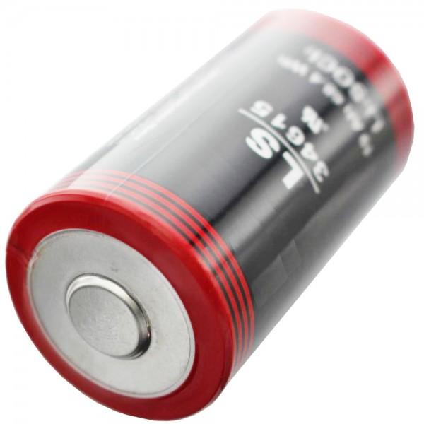 ER34615 Lithium Batterie D Mono 3,6 Volt 19000mAh mit breitem Pluspol min. 0,8cm, max. 11,5mm
