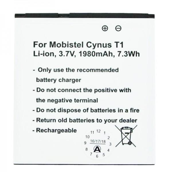 MOBISTEL Cynus T1 Akku als Nachbau von Accucell passend für BTY26179, BTY26179MOBISTEL/STD