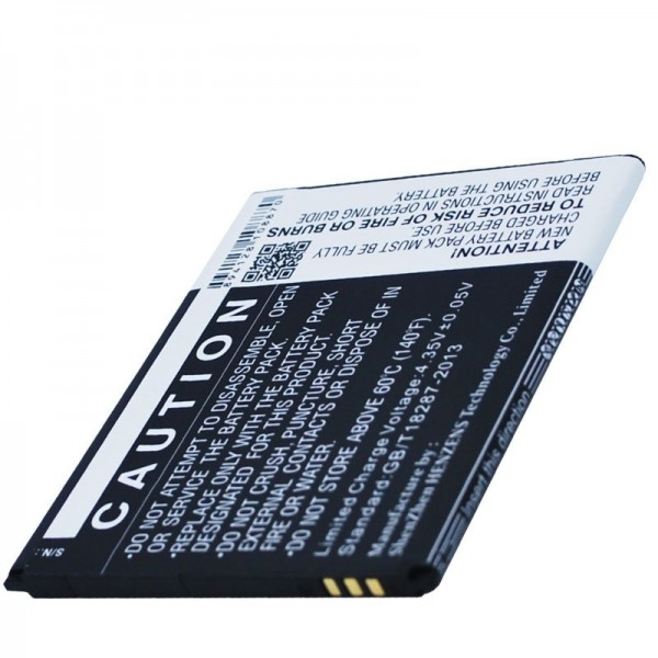 Akku passend für den WIKO Slide Akku 3,8 Volt 2500mAh mit 9,5Wh
