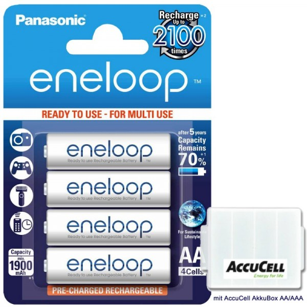 Panasonic Eneloop BK-3MCC Mignon AA, der Nachfolger der Sanyo Eneloop HR-3UTGB