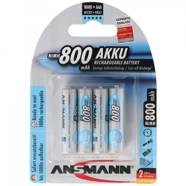 Ansmann maxE Micro AAA Akku im 4er Blister