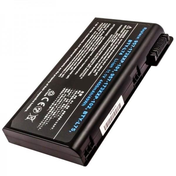 Akku passend für MSI 957-173XXP-101, -102, BTY-L74, BTY-L75, 4400mAh