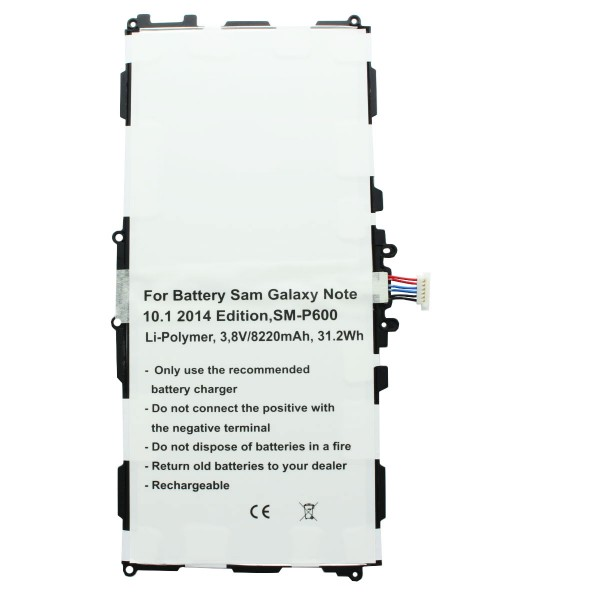 Akku nur passend für Samsung Galaxy Note 10.1 2014 Edition SM-P600 Akku T8220E