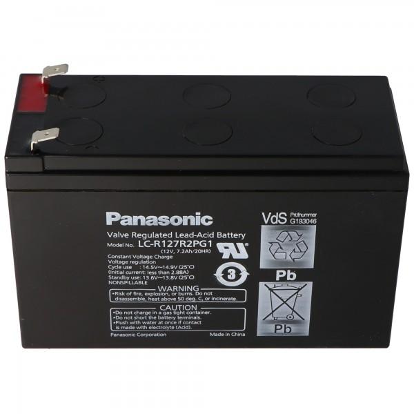Panasonic LC-R127R2PG1 PB Akku 12 Volt 7,2Ah VDS G193046, 6,3mm