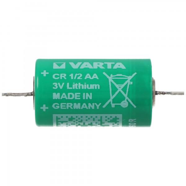 Varta CR1/2AA Lithium Batterie 6127 mit axialem Lötdraht
