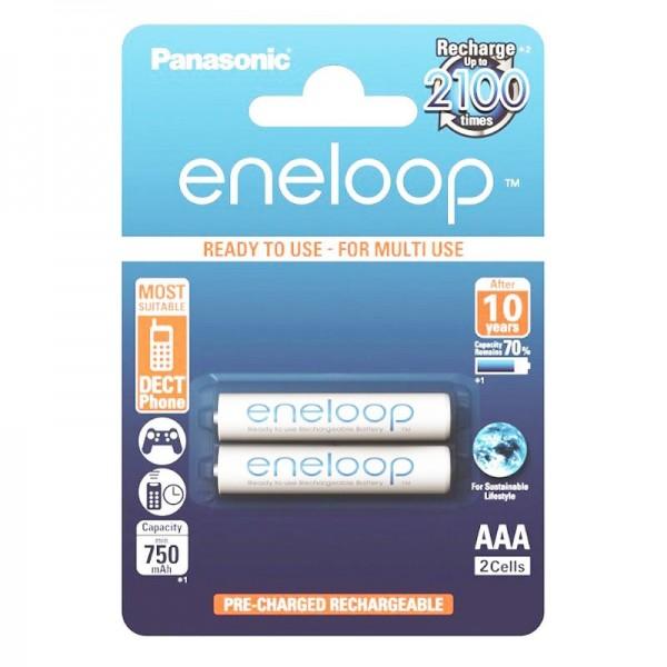 2er Panasonic eneloop Standard AAA Micro BK-4MCCE NiMH Akku