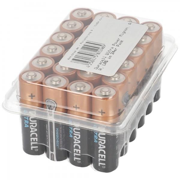 Duracell Ultra Power Mignon, AA, LR6 im 24er Pack
