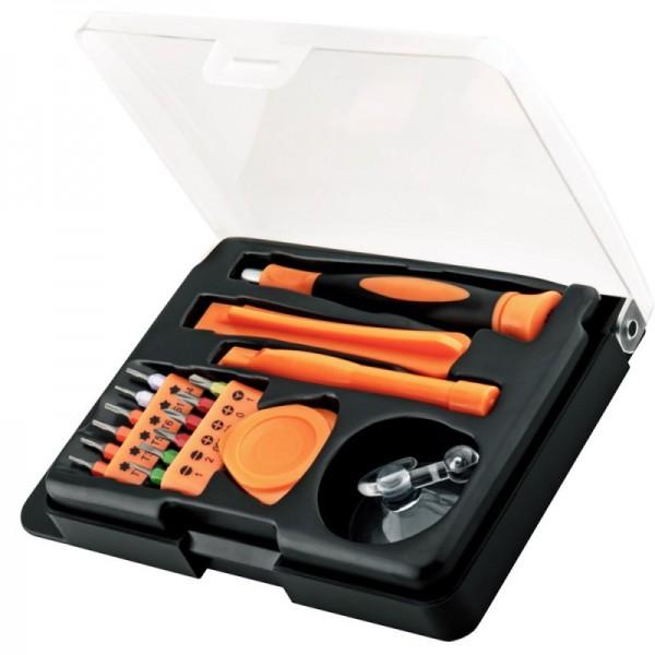 Handy Werkzeugset mit 17 Teilen, ideal für die Reparatur von Smartphone, Tablet oder Notebook