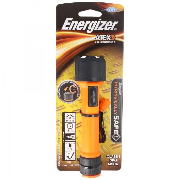 Energizer ATEX 2AA LED-Taschenlampe Ex-geschützt Zone 1 für 2 Mignon AA Batterien