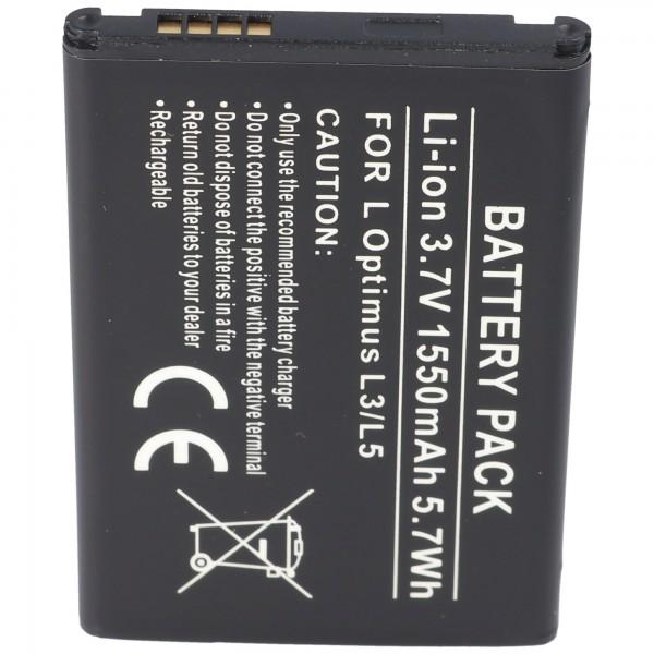 AccuCell Akku passend für LG Optimus L3, Optimus L3 Dual, LG E430, 1ICP5/44/65, BL-44JN, EAC61679601