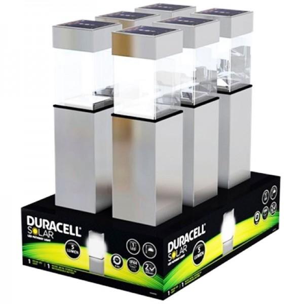 Zaunpfosten Beleuchtung Solar | 6er Set Duracell Led Solar Wegeleuchte Mit Bis Zu 5 Lumen