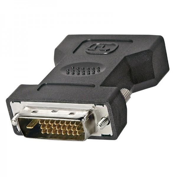DVI-I/DVI-D Adapter, DVI-I Buchse (24+5) auf DVI-D Stecker (24+1)