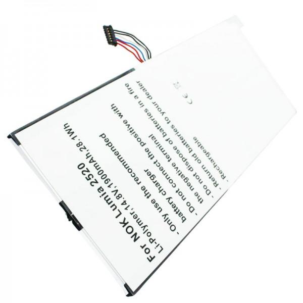 Akku passend für Nokia Lumia 2520 Li-Polymer Akku BC-3S