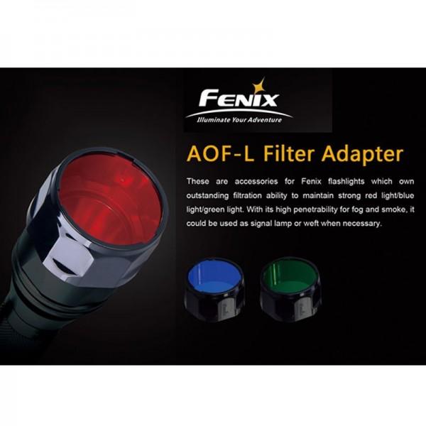 Universal Fenix Rot Filter AOF-L für Fenix E40, E50, LD41, TK22, PD40, RC20, FD41