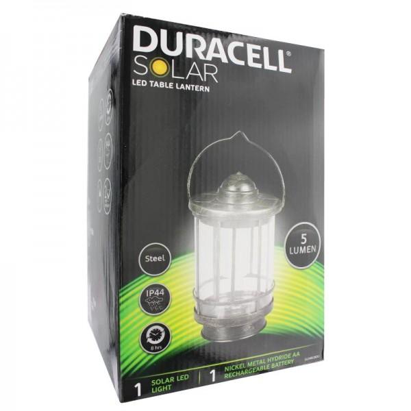 Duracell Solar LED Tischleuchte mit bis zu 5 Lumen inklusive Standard NiMH Akku