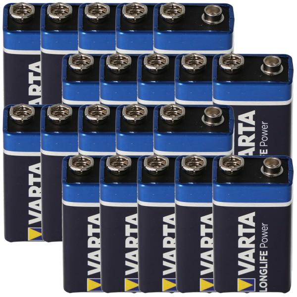 Varta Longlife Power (ehem. High Energy) 9V E-Block 4922 Batterie 20er Box in Folie