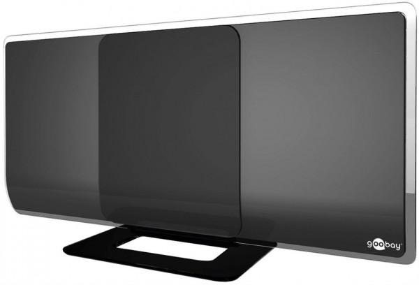 Aktive Full HD DVB-T2 Zimmerantenne - zum Empfang von DVB-T / DVB-T2 HD