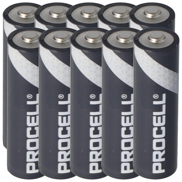 10 Stück Duracell Procell Alkaline AA Mignon, LR6 im Karton