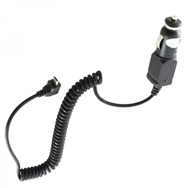 Micro-USB Ladekabel 12 Volt, Ladestrom 1A mit abgewinkeltem Stecker, Kabellänge ca. 1 Meter