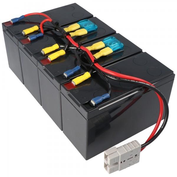 Nachbau Akku exakt passend für den APC-RBC25 Akku vormontiert mit Kabel und Stecker