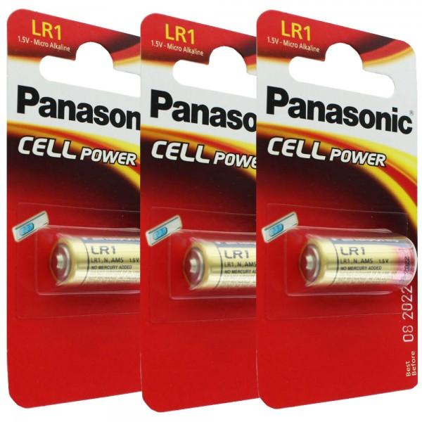 Panasonic PowerMax3 LR1, Lady Size N 3er Spar-Pack