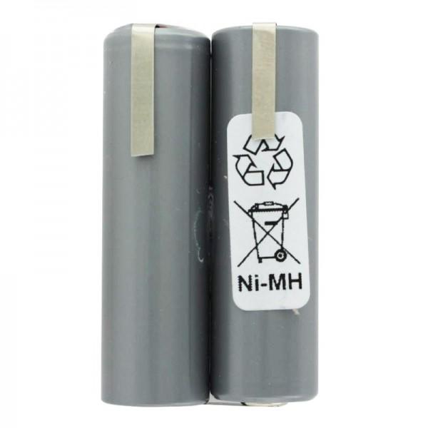Akku passend für Haarschneider 2,4 Volt NiMH Mignon AA typ. 2000mAh, 49x15x28mm